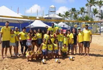 Estudantes da rede pública de Santa Rita prestigiam Circuito Brasileiro de vôlei de praia