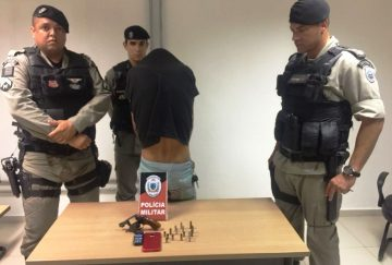 Motorista de UBER é preso por porte ilegal de arma em Mangabeira