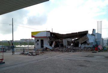 Grupo explode cofre de posto de combustível e fogem com R$ 30 mil