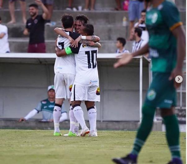 Botafogo-PB venceu o Altos pela Copa do Nordeste (Foto: Instagram: @botafogopb)