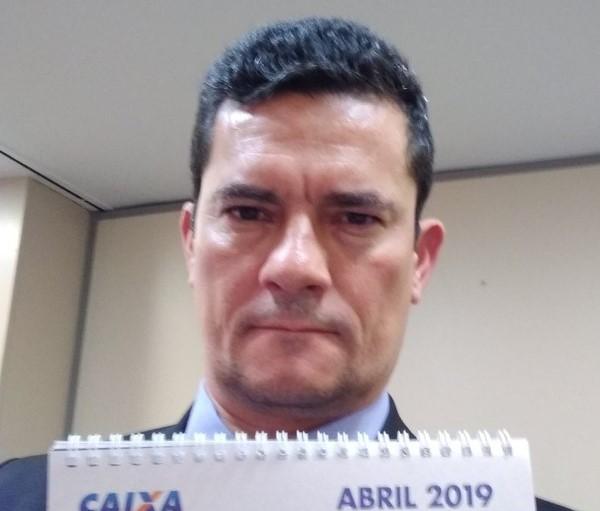Sergio Moro em foto postagem no Twitter (Reprodução)