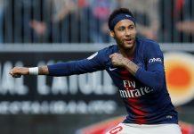 Neymar gol PSG Angers — Foto: Reuters